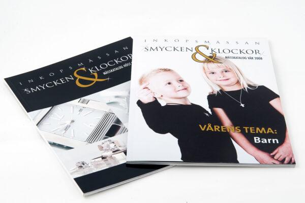 Produktion av mässkatalog till Smycken & Klockor, Stockholm